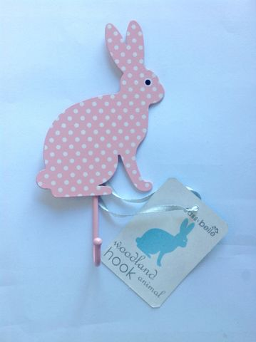 Light,Pink,Polka,Dot,Rabbit,Hook,by,Sass,&,Belle,Light Pink Polka Dot Rabbit Hook by Sass & Belle