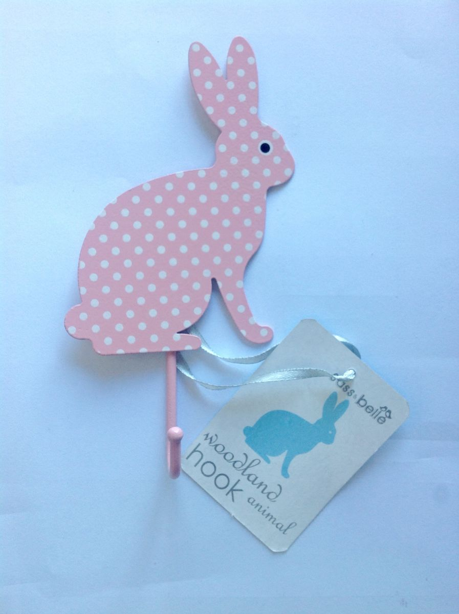 Light Pink Polka Dot Rabbit Hook by Sass & Belle - product images  of