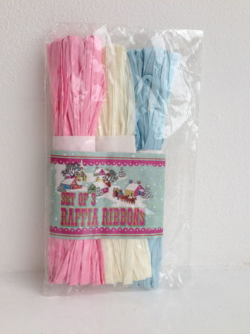 70%,OFF,Set,of,3,Raffia,Ribbons,by,Rex,International,Set of 3 Raffia Ribbons by Rex International