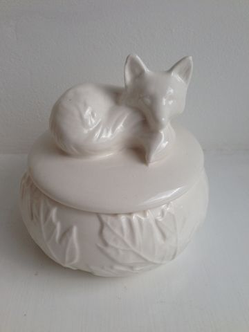 Sleeping,Fox,Ceramic,Trinket,Box,by,Transomnia,Sleeping Fox Ceramic Trinket Box by Transomnia