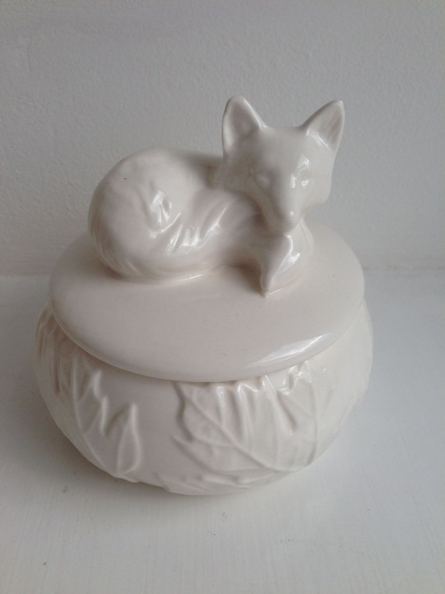 Sleeping Fox Ceramic Trinket Box by Transomnia - product images  of