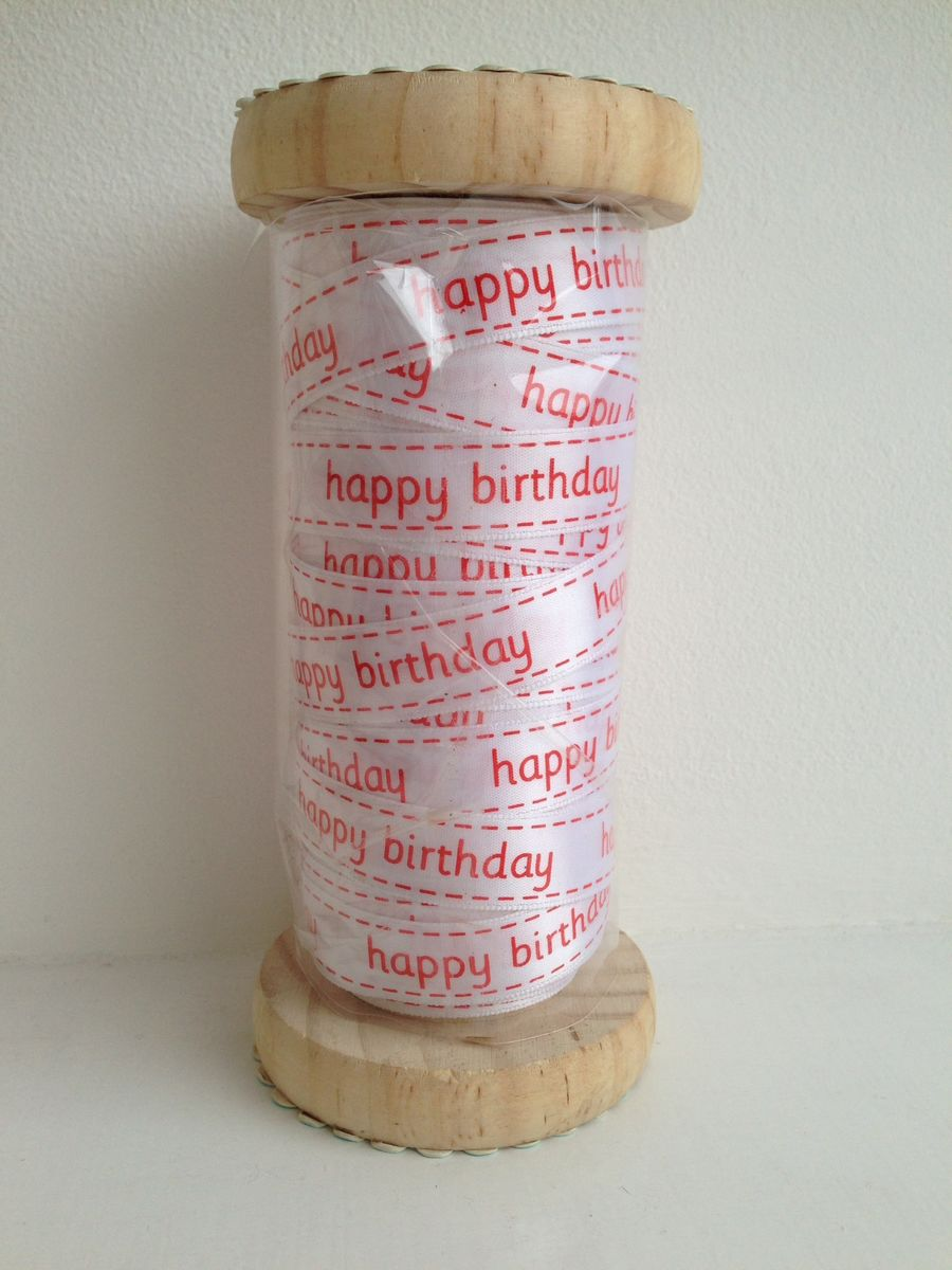 70% OFF Happy birthday Ribbon 1 meter by Sass & Belle - product images  of