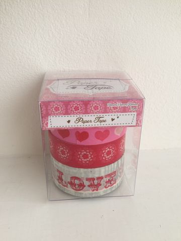 70%,OFF,PACK,OF,3,Love,themed,PAPER,TAPE,by,Container,Group, PACK OF 3 Love themed PAPER TAPE by Container Group