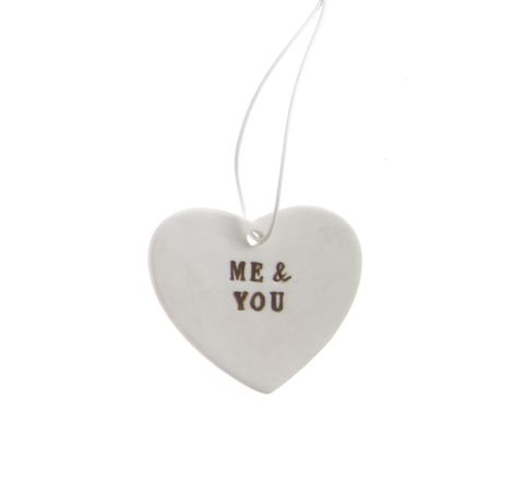 Me,&,You,Ceramic,Hanging,Heart,by,Sass,Belle,Me & You Ceramic Hanging Heart