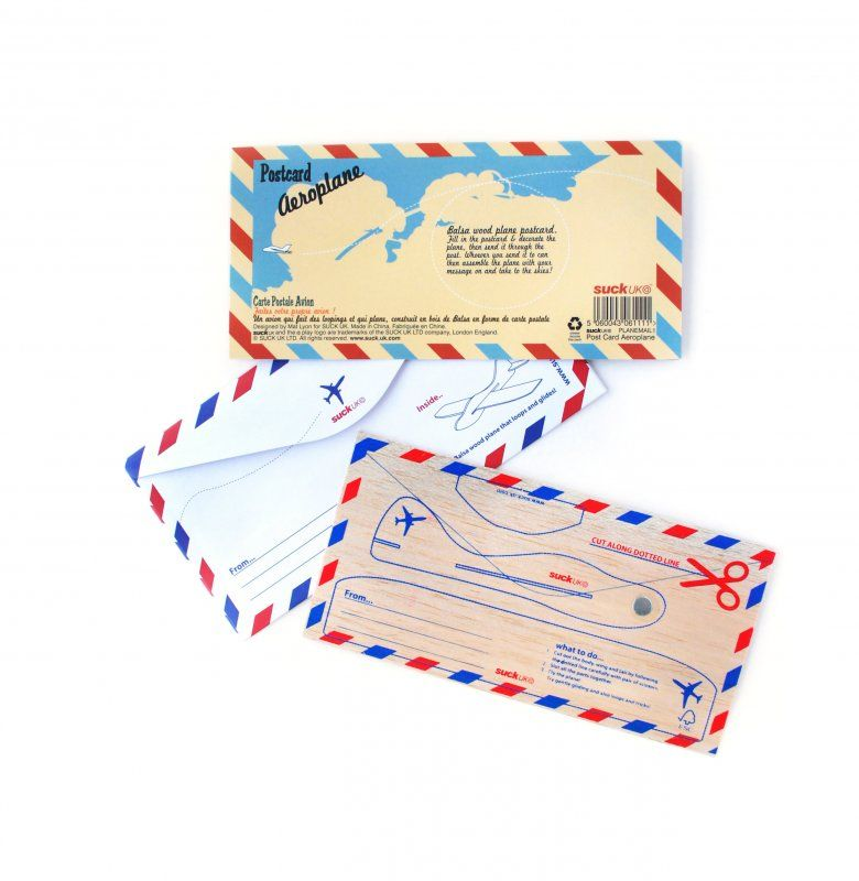 50% OFF Postcard Aeroplane by Suck UK - product images  of