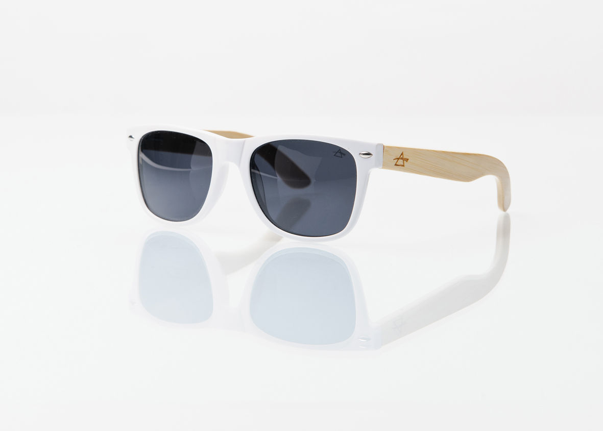 50% OFF REFRACTOPTICS® COMPTON: WHITE Acetate/Bamboo - product images  of