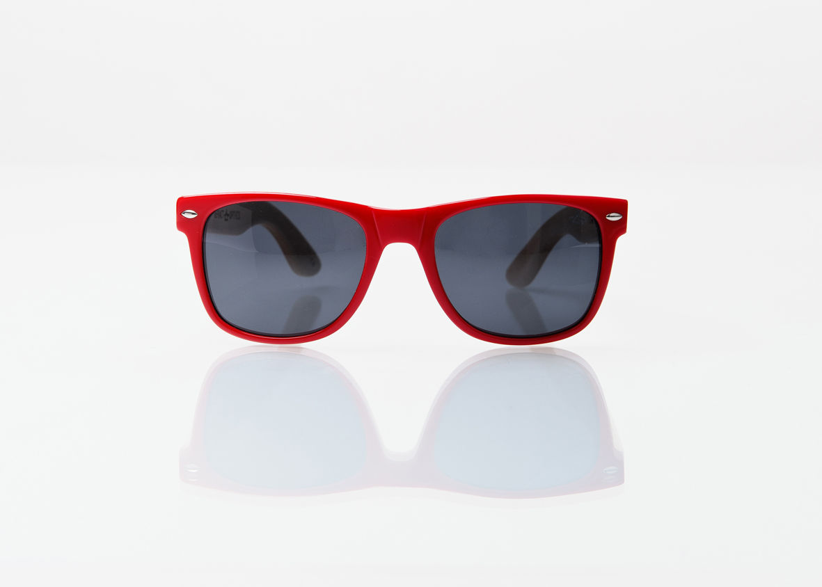 50% OFF REFRACTOPTICS® COMPTON: RED Acetate/Bamboo - product images  of