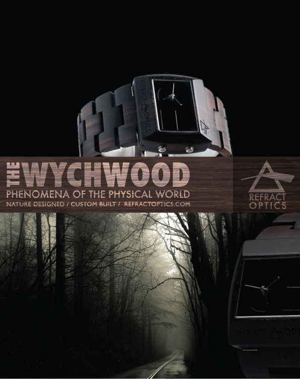 Refract Optics Ltd. Ed. 100 Wychwood Watch: Ebony - product images  of