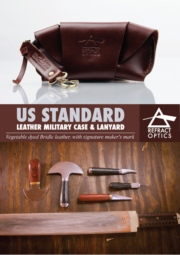 REFRACTOPTICS® LEATHER US MILITARY STANDARD CASE:SADDLE TAN - product images  of
