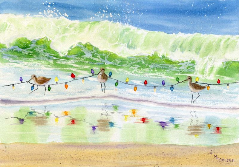 Beach Christmas Cards >> Where S That Tree Christmas Cards The Golden Gallery
