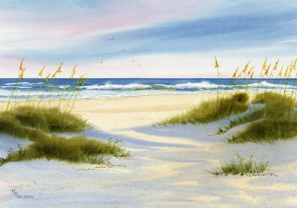Afternoon Shadows Fall Across Wrightsville Beach Dunes