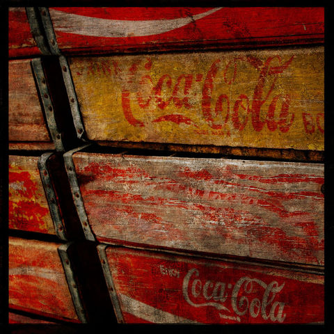 Soda,Stack,-,8,in,x,Altered,Photograph,Art,Photography,Surreal,digital,brown,texture,moody,soda,coca_cola,paper,ink