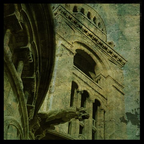 Sacre,Coeur,-,8,in,x,Altered,Photograph,Art,Photography,Digital,surreal,texture,paris,france,sacre_coeur,paper,ink