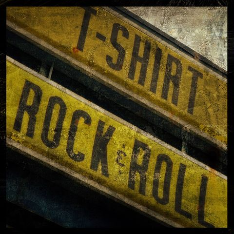T-Shirt,Rock,&,Roll,-,8,in,x,Altered,Photograph,Art,Photography,Surreal,digital,brown,texture,moody,sign,tshirt,rock_and_roll,paper,ink