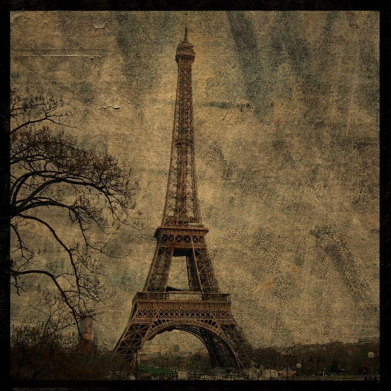 Eiffel Tower Photo No. 3 - 8 in x 8 in Altered Photograph - product images