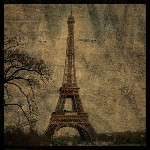 Eiffel,Tower,Photo,No.,3,-,8,in,x,Altered,Photograph,Art,Photography,Nature,surreal,digital,brown,texture,moody,paris,france,europe,eiffel_tower_photo,paper,ink