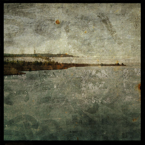 Bridge,View-,8,in,x,Altered,Photograph,Art,Photography,Surreal,digital,brown,texture,moody,sea,blue,altered,ocean,beach_art,paper,ink
