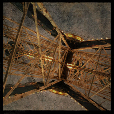 Amusement,Park,Photo,-,Ferris,No.,3,8,in,x,Altered,Photograph,Art,Photography,Surreal,digital,brown,texture,moody,carnival,fair,Amusement_Park_Photo,ferris_wheel,paper,ink