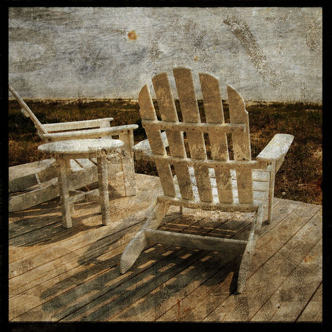 Secret,Spot,-,8,in,x,Altered,Photograph,Art,Photography,Surreal,digital,brown,texture,moody,sea,dune,blue,altered,ocean,sand_dune,rocking_chairs,porch,paper,ink