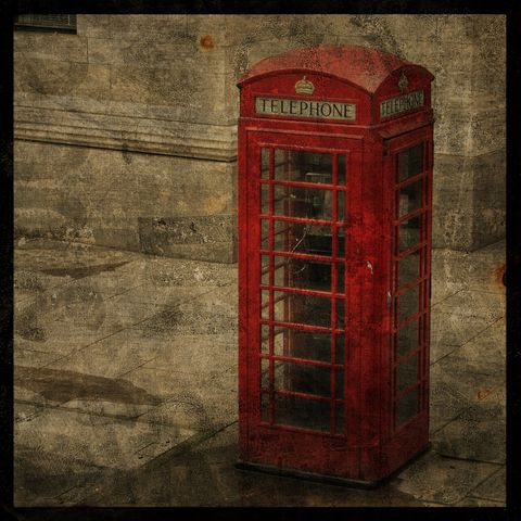 Photography,London,-,Calling,8,in,x,Altered,Photograph,Art,Digital,surreal,texture,england,europe,red,phone,booth,photography_london,call_box,paper,ink