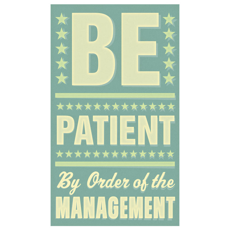 Art for Kids Room - Be Patient Print 6 in x 10 in - product images  of