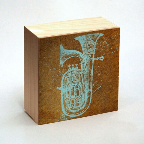 Euphonium,Art,Print,Box,-,4,in,x,Pick,the,Vintage,illustration,music,instrument,inspired,retro,art,Illustration,Digital,wood,reproduction,mounted,cradled_board,box,vintage_illustration,retro_art,euphonium,dictionary_art,music_instrument,paper,ink,glue,sealer