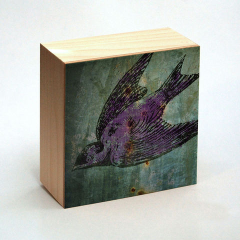 Purple,Martin,Art,Print,Box,-,4,in,x,Pick,the,Vintage,illustration,inspired,art,Illustration,Digital,wood,reproduction,mounted,cradled_board,box,vintage_illustration,Purple_Martin_Art,paper,ink,glue,sealer