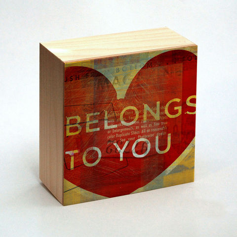 Valentine,Heart,Art,-,Belongs,To,You,Box,4,in,x,Illustration,Digital,reproduction,wood,block,heart,love,valentine,valentine_men,valentine_women,valentines_day,valentine_decor,valentine_heart_art,paper,ink,glue,sealer