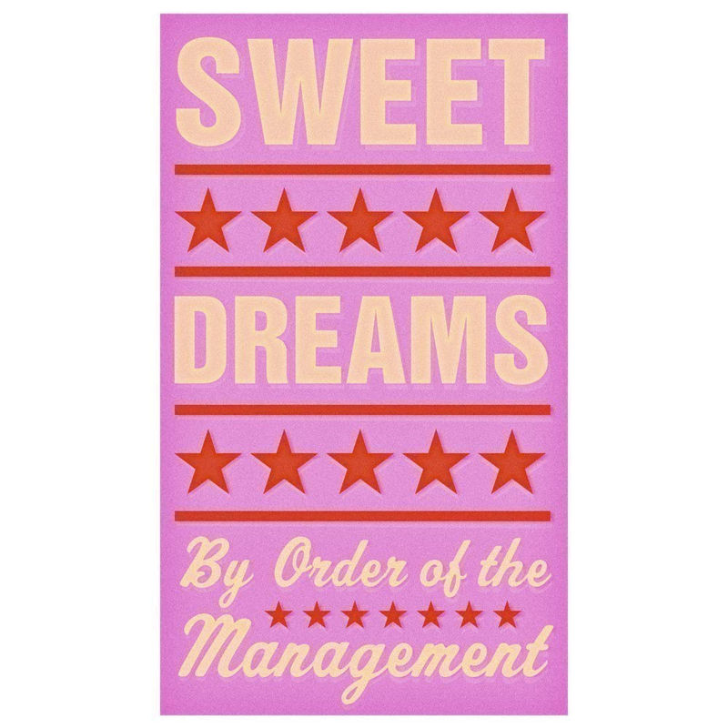 Art for Girls Room - Sweet Dreams (Pink) Print 6 in x 10 in - product images