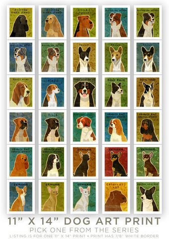 Dog,artwork,-,Pick,Your,Pooch,Print,11,in,x,14,Art,Illustration,digital,whimsical,cute,dog,animals,animal,dog_artwork,paper,ink