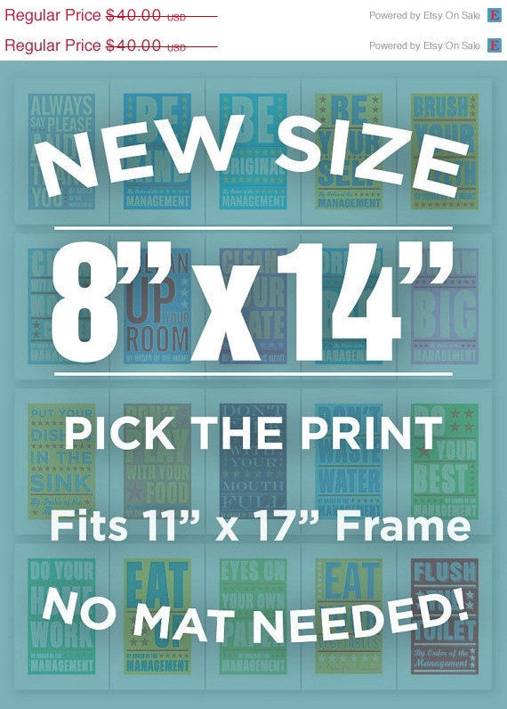 "By Order of the Management - 8 in x 14 in - Pick Your Print - Fits 11"" x 17"" frame without a mat - product images  of"