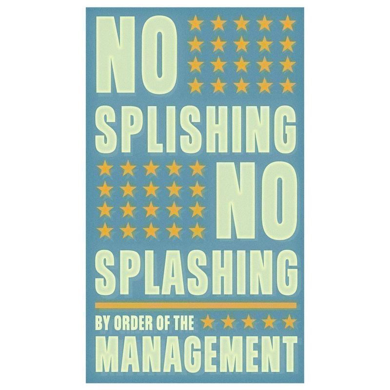 Art for Bathroom - No Splishing No Splashing Print 6 in x 10 in - product images  of
