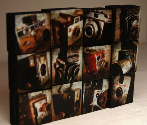 Vintage,Camera,-,Art,PiccoloBlocco,Cameras-,Little,Block,Blocks,Set,of,12,Pick,the,Prints,1.5,in,x,Photography,Digital,john_w_golden,illustration,digital,print,block,movies,movie,vintage_camera,paper,computer,wood