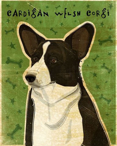 Cardigan,Welsh,Corgi,Print,8,in,x,10,Art,Illustration,digital,whimsical,cute,dog,animals,animal,corgi,pets,cardigan,welsh,paper,ink
