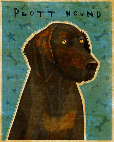 Plott,Hound,Print,8,in,x,10,Pets,Pet_Lover,illustration,print,digital,whimsical,cute,dog,animals,animal,art,plott_hound,paper,ink
