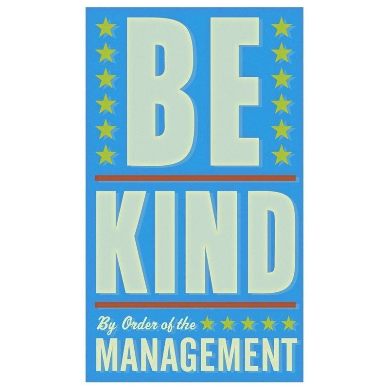 Art for Kids Room - Be Kind Print 6 in x 10 in - product images  of