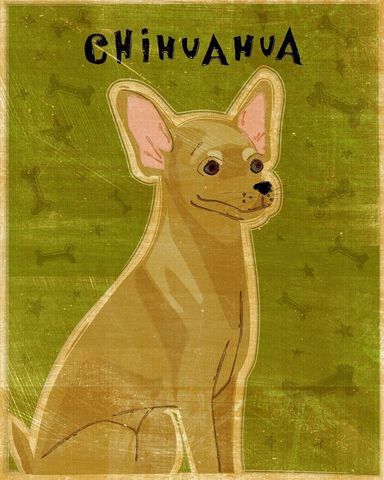 Fawn,Chihuahua,Print,8,in,x,10,Art,Illustration,digital,whimsical,cute,dog,animals,animal,paper,ink