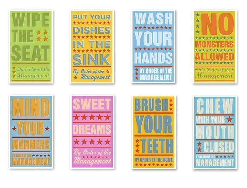 By Order of The Management SERIES 3 - Set of 8 Sign Illustrations - product images