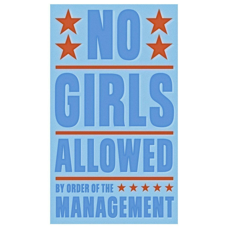 Boys Wall Art - No Girls Allowed Print 6 in x 10 in - product images  of