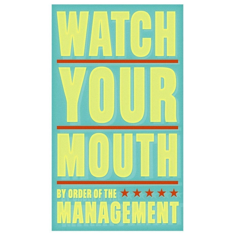 Watch Your Mouth Print 6 in x 10 in - product images  of