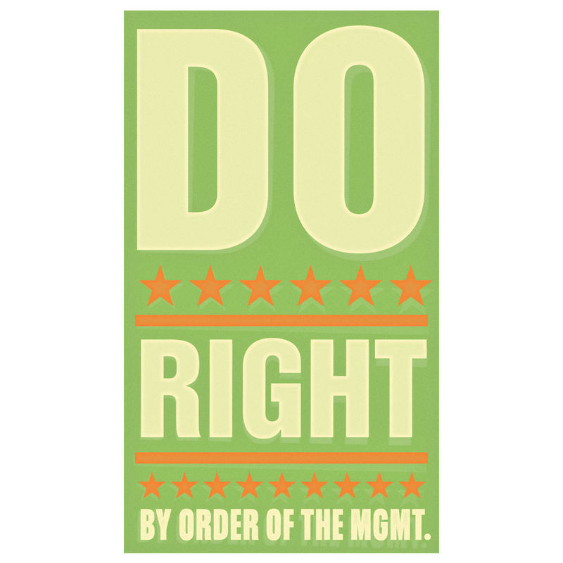 Art for Kids Room - Do Right Print 6 in x 10 in - product images  of