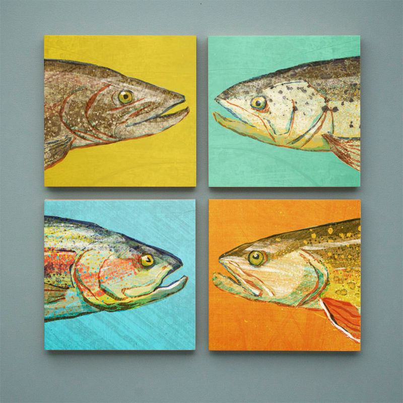 Magnificent Fish Wall Decoration Composition - Wall Art Design ...