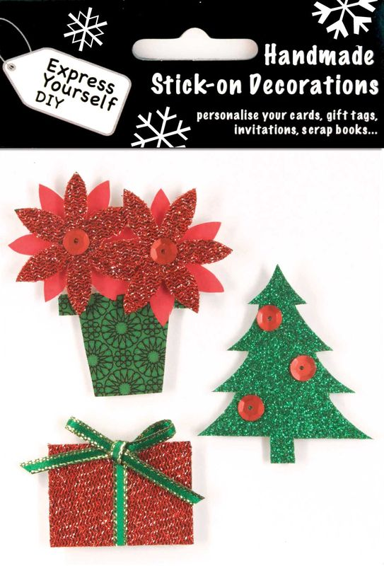 Christmas tree present with poinsettia plant express yourself diy solutioingenieria Images