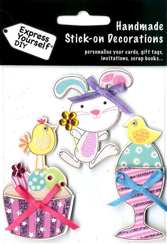 Chick,on,Eggcup,,Bunny,&,Cupcake,Craft, Easter,  Chick on Eggcup, Bunny & Cupcake , Toppers