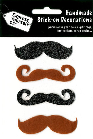 Moustaches,Craft, Moustaches, Black, Brown, Topper