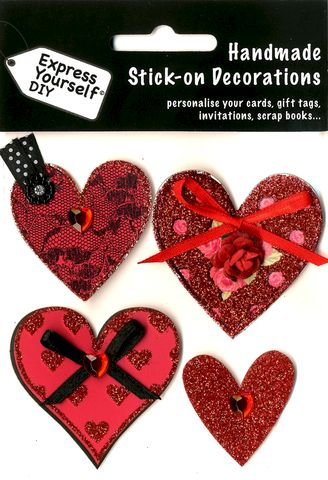 Hearts,Craft, Hearts, Flower, Red, Topper