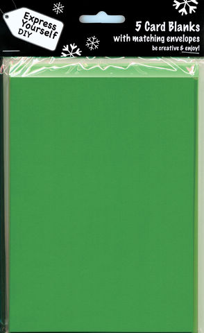Green,Blank,Cards,With,Envelopes,Craft, Green, Card Blanks, large, Shaped