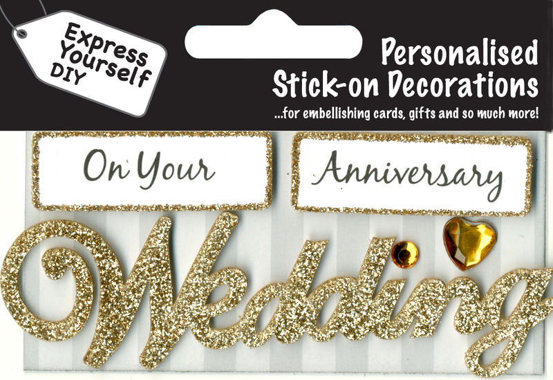 make it personal caption topper wedding anniversary gold