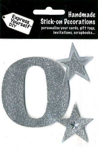 Large,Silver,Glitter,Number,0,Craft, Toppers, Large Numbers, Silver, Glitter
