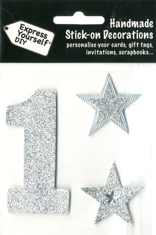 Large,Silver,Glitter,Number,1,Craft, Toppers, Large Numbers, Silver, Glitter